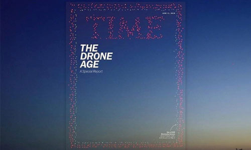 TIME誌、表紙、ドローン